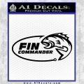 Fin Commander Decal Sticker Black Vinyl Logo Emblem 120x120