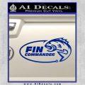 Fin Commander Decal Sticker Blue Vinyl 120x120