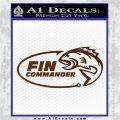 Fin Commander Decal Sticker Brown Vinyl 120x120