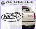 Fin Commander Decal Sticker Carbon Fiber Black 120x97