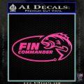Fin Commander Decal Sticker Hot Pink Vinyl 120x120