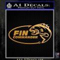 Fin Commander Decal Sticker Metallic Gold Vinyl 120x120