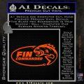 Fin Commander Decal Sticker Orange Vinyl Emblem 120x120