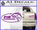 Fin Commander Decal Sticker Purple Vinyl 120x97