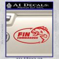 Fin Commander Decal Sticker Red Vinyl 120x120