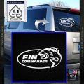Fin Commander Decal Sticker White Vinyl Emblem 120x120