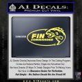 Fin Commander Decal Sticker Yellow Vinyl 120x120