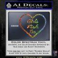 Girls Fish Too Heart Decal Sticker Sparkle Glitter Vinyl Sparkle Glitter 120x120