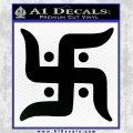 Hindu Swastika Decal Sticker D2 Black Vinyl Logo Emblem 120x120