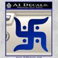 Hindu Swastika Decal Sticker D2 Blue Vinyl 120x120