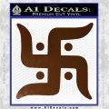 Hindu Swastika Decal Sticker D2 Brown Vinyl 120x120