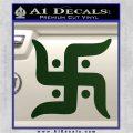 Hindu Swastika Decal Sticker D2 Dark Green Vinyl 120x120