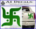 Hindu Swastika Decal Sticker D2 Green Vinyl 120x97