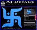Hindu Swastika Decal Sticker D2 Light Blue Vinyl 120x97