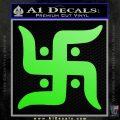 Hindu Swastika Decal Sticker D2 Lime Green Vinyl 120x120
