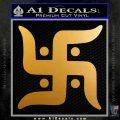 Hindu Swastika Decal Sticker D2 Metallic Gold Vinyl 120x120