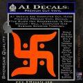 Hindu Swastika Decal Sticker D2 Orange Vinyl Emblem 120x120