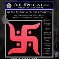 Hindu Swastika Decal Sticker D2 Pink Vinyl Emblem 120x120
