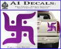 Hindu Swastika Decal Sticker D2 Purple Vinyl 120x97