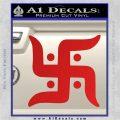 Hindu Swastika Decal Sticker D2 Red Vinyl 120x120