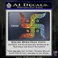 Hindu Swastika Decal Sticker D2 Sparkle Glitter Vinyl Sparkle Glitter 120x120
