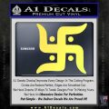 Hindu Swastika Decal Sticker D2 Yellow Vinyl 120x120
