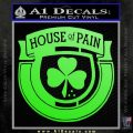House Of Pain Decal Sticker Music Rap Lime Green Vinyl 120x120