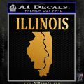 Illinois Land of Lincoln Decal Sticker Metallic Gold Vinyl 120x120