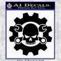 JDM Skull Wrench Gear Decal Sticker Black Vinyl Logo Emblem 120x120
