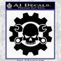 JDM Skull Wrench Gear Decal Sticker Black Vinyl Logo Emblem 120x120