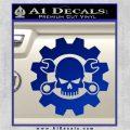 JDM Skull Wrench Gear Decal Sticker Blue Vinyl 120x120