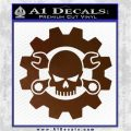 JDM Skull Wrench Gear Decal Sticker Brown Vinyl 120x120