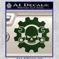 JDM Skull Wrench Gear Decal Sticker Dark Green Vinyl 120x120