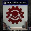 JDM Skull Wrench Gear Decal Sticker Dark Red Vinyl 120x120