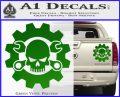 JDM Skull Wrench Gear Decal Sticker Green Vinyl 120x97