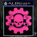 JDM Skull Wrench Gear Decal Sticker Hot Pink Vinyl 120x120