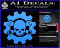 JDM Skull Wrench Gear Decal Sticker Light Blue Vinyl 120x97