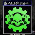 JDM Skull Wrench Gear Decal Sticker Lime Green Vinyl 120x120
