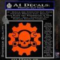 JDM Skull Wrench Gear Decal Sticker Orange Vinyl Emblem 120x120