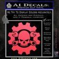 JDM Skull Wrench Gear Decal Sticker Pink Vinyl Emblem 120x120