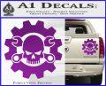JDM Skull Wrench Gear Decal Sticker Purple Vinyl 120x97