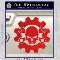 JDM Skull Wrench Gear Decal Sticker Red Vinyl 120x120