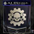 JDM Skull Wrench Gear Decal Sticker Silver Vinyl 120x120