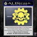 JDM Skull Wrench Gear Decal Sticker Yellow Vinyl 120x120