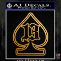 Lucky 13 Death Card N1 Decal Sticker Metallic Gold Vinyl 120x120