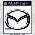 Mazda 3D Decal Sticker Logo Black Vinyl Logo Emblem 120x120