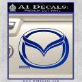 Mazda 3D Decal Sticker Logo Blue Vinyl 120x120