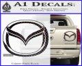 Mazda 3D Decal Sticker Logo Carbon Fiber Black 120x97