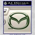 Mazda 3D Decal Sticker Logo Dark Green Vinyl 120x120