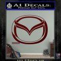 Mazda 3D Decal Sticker Logo Dark Red Vinyl 120x120